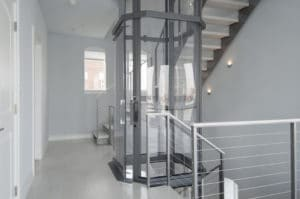 Savaria Vuelift Octagonal Townhome with Wrap Stairs Around