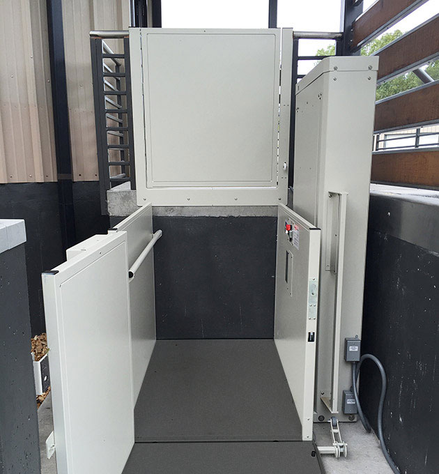 Bruno Commercial Unenclosed Vertical Platform Lift